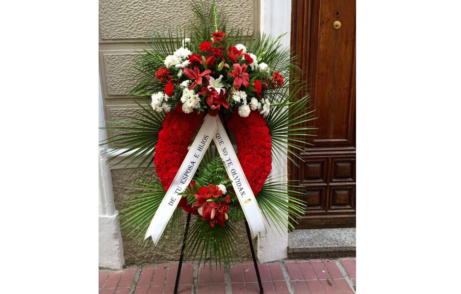Flores para funerales recuerdo