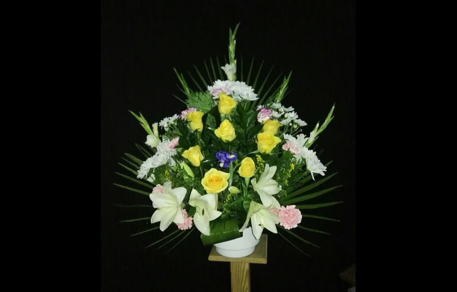 Centros de flores para funerales