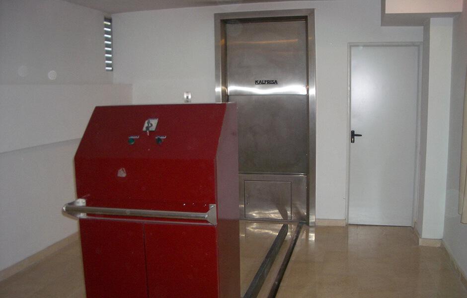 Horno del tanatorio y crematorio de Albolote